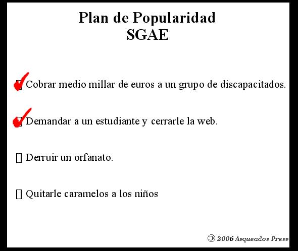 Plan de Popularidad Sgae 2006
